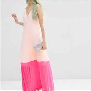 ASOS Pleated Maxi Dress. NEW.